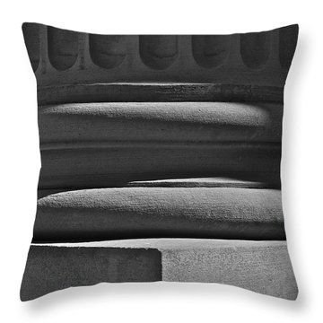 Throw Pillow featuring the photograph Column 1 by Linda Bianic