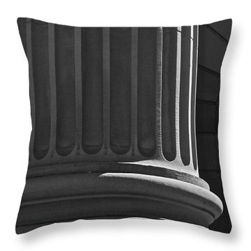 Throw Pillow featuring the photograph Column 2 by Linda Bianic