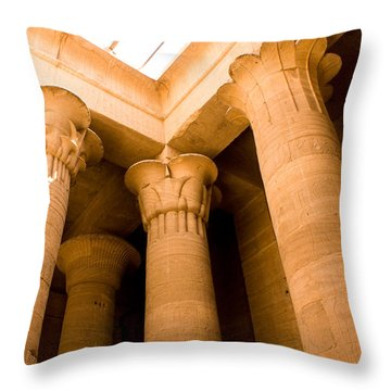 Column Head Art Throw Pillow