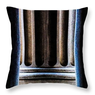 Column Number Nine  Throw Pillow