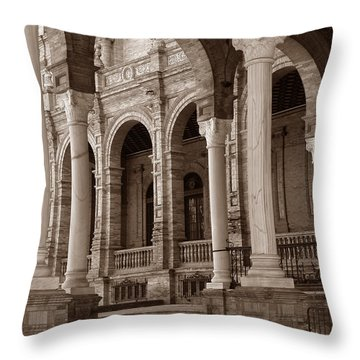 Columns And Arches Throw Pillow