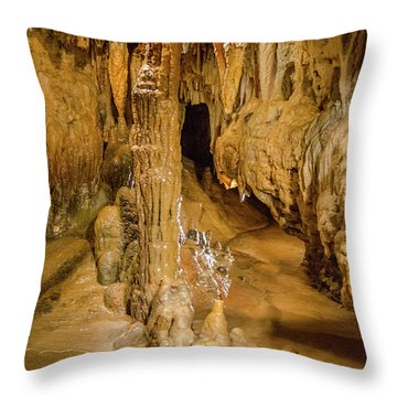 Columns In The Caves Throw Pillow by Jonah  Anderson