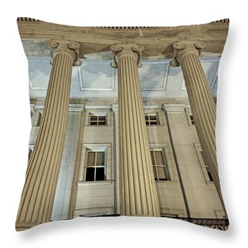 Throw Pillow featuring the photograph Columns Of History by Suzanne Stout