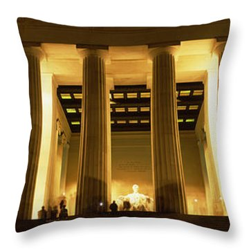 Columns Surrounding A Memorial, Lincoln Throw Pillow by Panoramic Images
