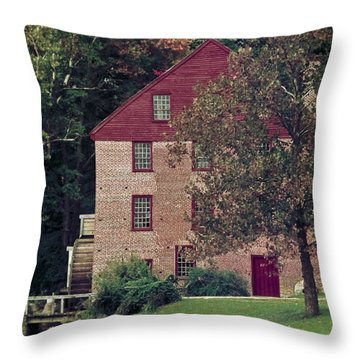 Colvin Run Mill Throw Pillow by Greg Reed