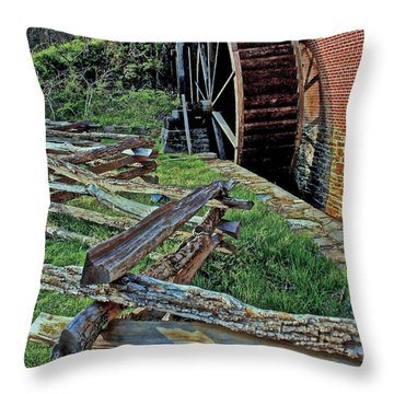 Colvin Run Mill Throw Pillow by Suzanne Stout