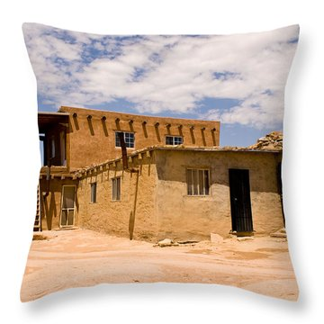 Acoma Pueblo Home Throw Pillow
