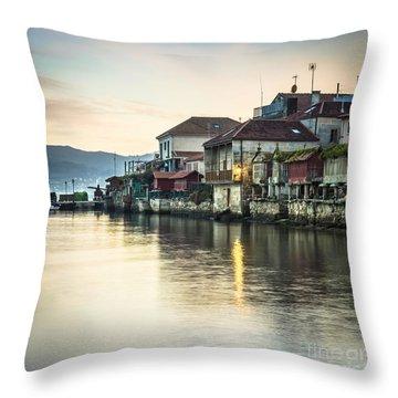 Combarro Pontevedra Galicia Spain Throw Pillow