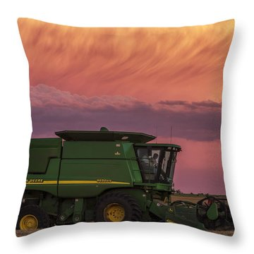 Combine At Sunset Throw Pillow by Rob Graham