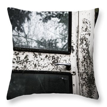 Throw Pillow featuring the photograph Combine Reflection by Rebecca Davis
