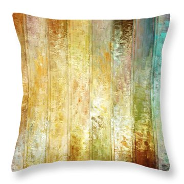 Come A Little Closer - Abstract Art Throw Pillow by Jaison Cianelli