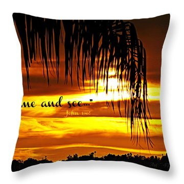 Come And See Throw Pillow by Sharon Soberon