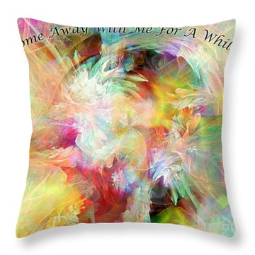 Throw Pillow featuring the digital art Come Away by Margie Chapman