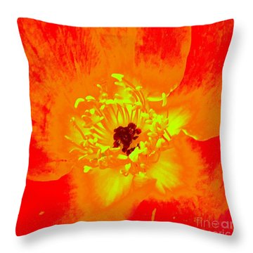 Come Closer Rose Throw Pillow by Ann Johndro-Collins