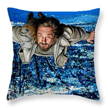 Throw Pillow featuring the painting Come Fly With Me by Tom Roderick