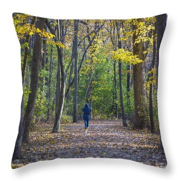 Throw Pillow featuring the photograph Come For A Walk by Sebastian Musial