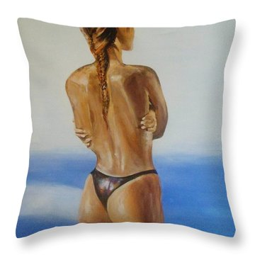 Come Home Throw Pillow by Cherise Foster