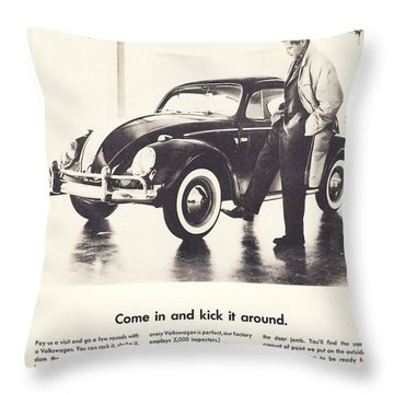 Come In And Kick It Around Throw Pillow by Georgia Fowler