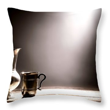 Come Let Us Drink About Throw Pillow by Olivier Le Queinec