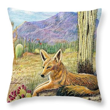 Come One Step Closer Throw Pillow by Marilyn Smith