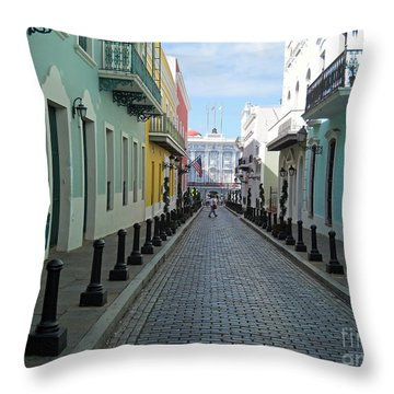 Throw Pillow featuring the photograph San Juan Puerto Rico by Roberta Byram