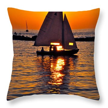 Come Sail Away With Me Throw Pillow by Frozen in Time Fine Art Photography