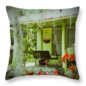 Throw Pillow featuring the photograph Come Sit Awhile by Patricia Greer