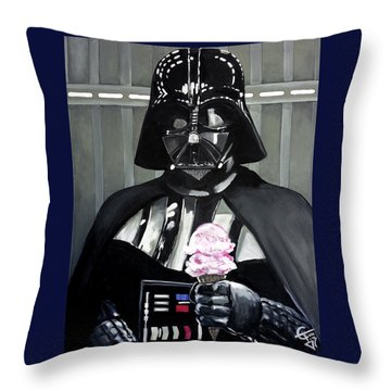Come To The Dark Side... We Have Ice Cream. Throw Pillow