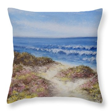 Throw Pillow featuring the painting Come With Me by Stanza Widen