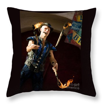 Comedy Juggling Throw Pillow