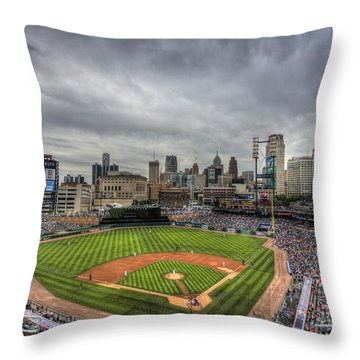 Comerica Park Home Of The Tigers Throw Pillow