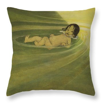 Comfortable Circa 1916 Throw Pillow by Aged Pixel