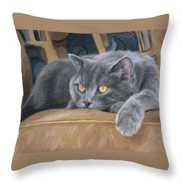 Comfortable Throw Pillow by Lucie Bilodeau