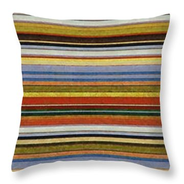 Comfortable Stripes Vll Throw Pillow by Michelle Calkins