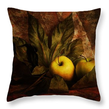 Comfy Apples Throw Pillow by Randi Grace Nilsberg