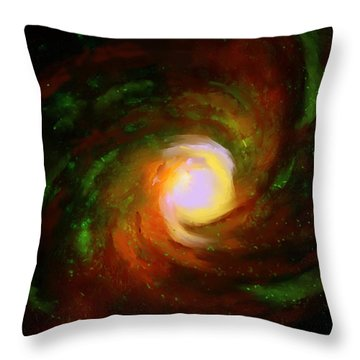 Comic Spiral Throw Pillow by P Dwain Morris
