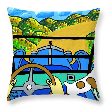 Comin' Round The Mountain Throw Pillow