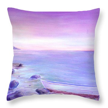 Coming Ashore Throw Pillow