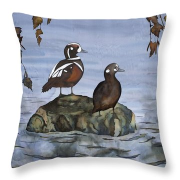 Coming Closer Throw Pillow