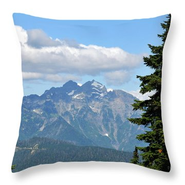 Coming Clouds Throw Pillow by Rebecca Parker