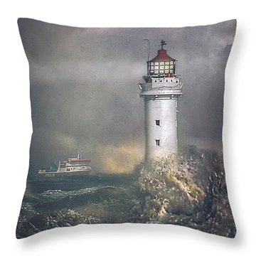 Throw Pillow featuring the photograph Coming Home by Brian Tarr