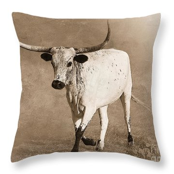 Coming Home In Sepia Throw Pillow by Betty LaRue