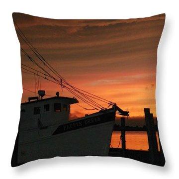Coming Home... Throw Pillow by Karen Wiles