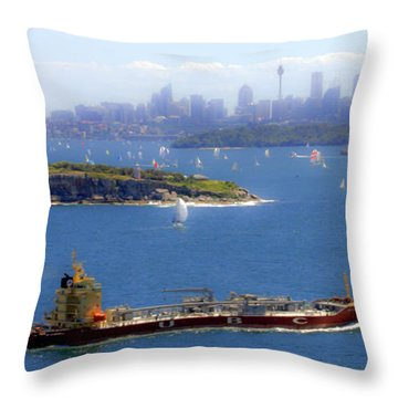 Throw Pillow featuring the photograph Coming In by Miroslava Jurcik