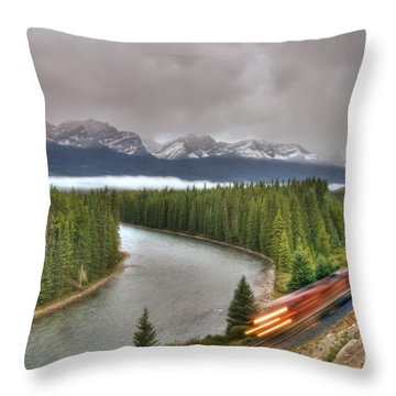 Coming 'round The Bend' Throw Pillow
