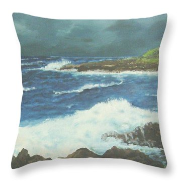 Coming Storm Throw Pillow by Ruth Seal