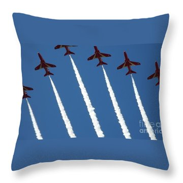 Coming To  Land Throw Pillow