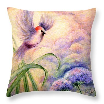 Coming To Rest Throw Pillow