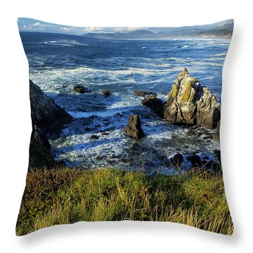 Throw Pillow featuring the photograph Coming Together by Belinda Greb