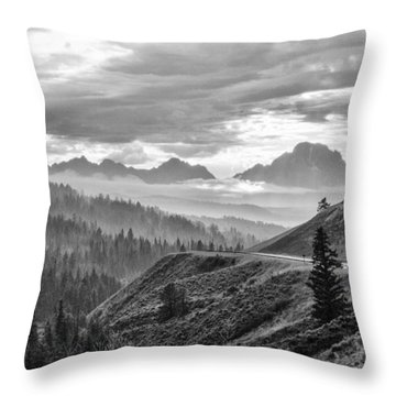 Coming Up A Storm  Throw Pillow